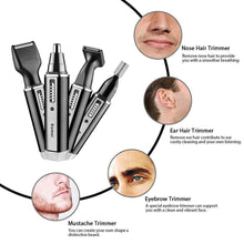 4 In 1 Professional Electric Rechargeable Nose And Ear Hair Trimmer Shaver Personal Care Tools For Men