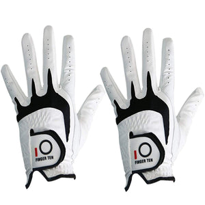 PU Leather Right Hand Golf Gloves Men All Weather Grip Soft Durable Left Hand Lh Rh 2 Pack/Set Golfer Player White Drop Shipping