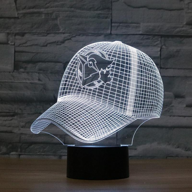 Baseball Cap Shape 3D Colorful LED Vision Lighting. 1PCS: - Mercy Abounding