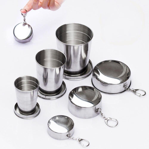 Collapsible Camping Stainless Travel Cup 1pcs