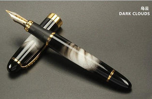 Calligraphy FOUNTAIN PEN JINHAO X450 BLACK AND GOLDEN 0.7mm. Office Stationery - Mercy Abounding