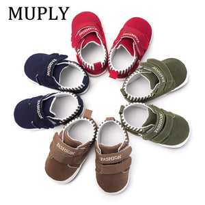 Baby Boy Girl Shoes Sole Soft Canvas Solid Footwear Shoes - Mercy Abounding