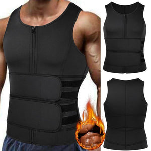 Men Weight Loss Sweat Vest Double Tummy Control Belts Body Shaper - Mercy Abounding