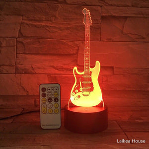 3D Guitar Shape Led USB Night Lighting For Indoor Decorations - Mercy Abounding