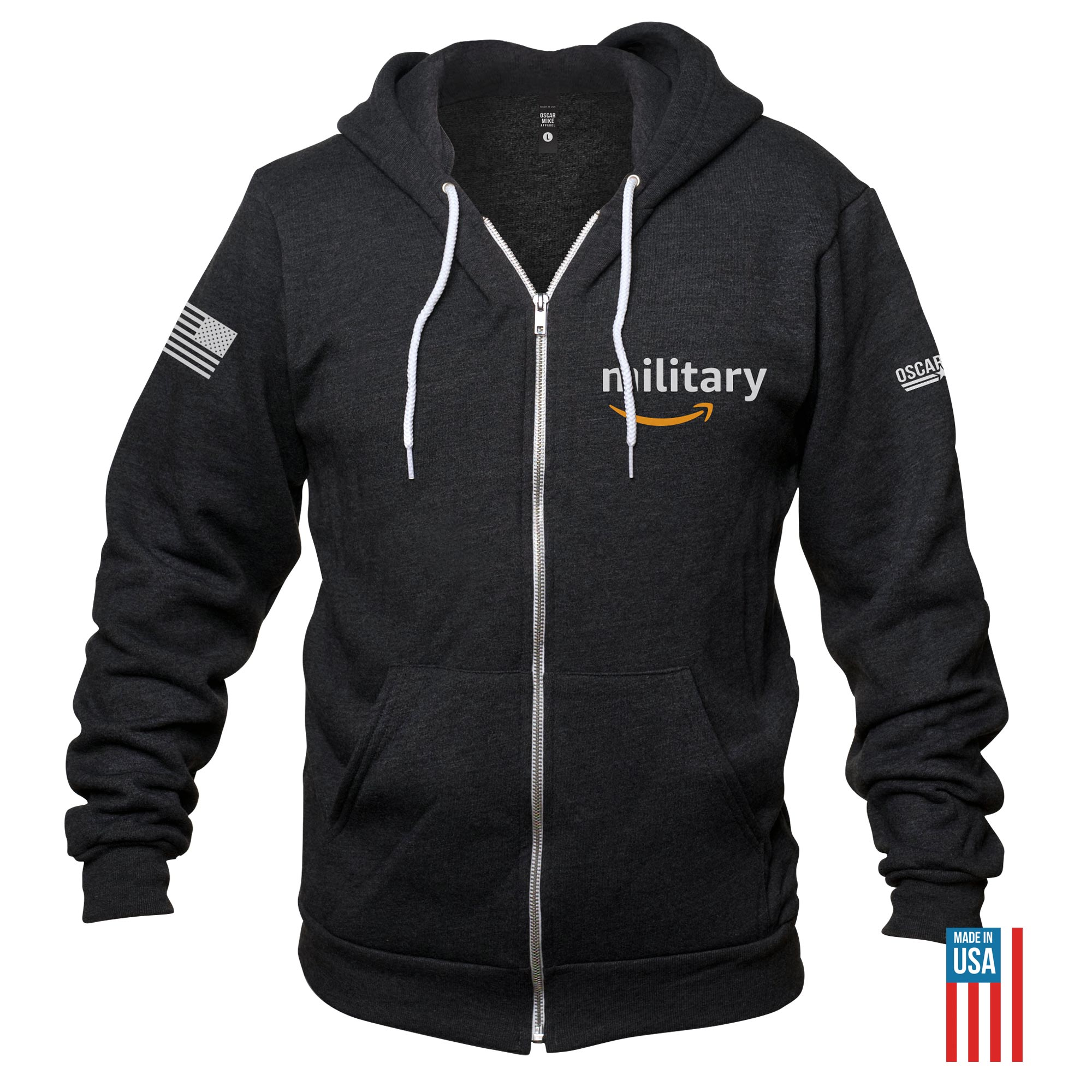 Amazon Military Zip Up Hoodie  from Oscar Mike Apparel