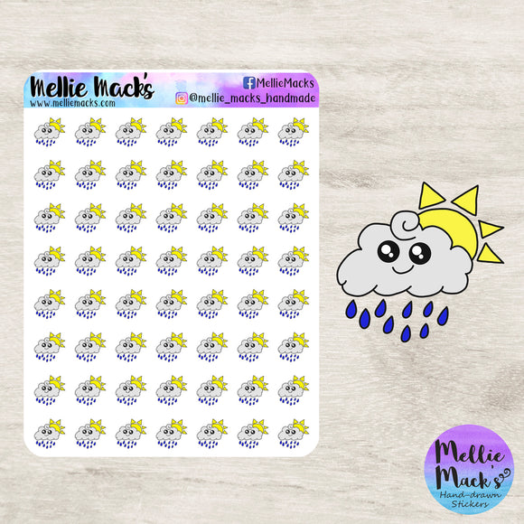 Sun/Rain Weather Tracking Stickers