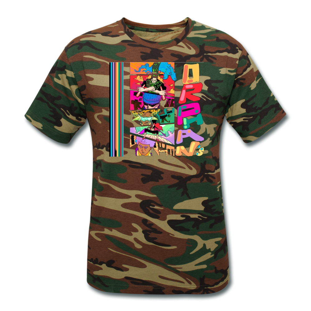 Orphan's Unisex Camouflage T-Shirt - green camouflage