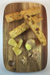 Pineapple Ginger Biscotti