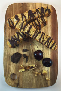Sour Cherry with Walnut and Bittersweet Chocolate Biscotti