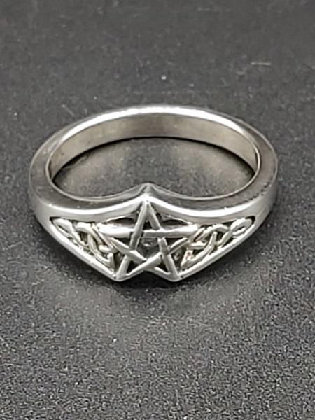 Ring Pentacle Sterling Silver | Earthworks