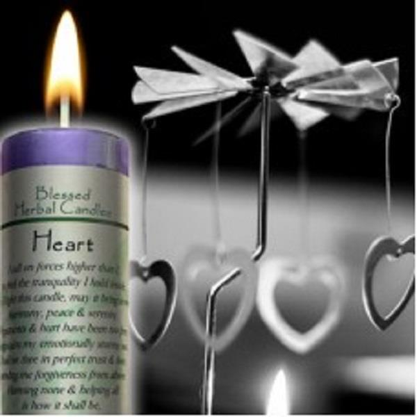 Blessed Herbal Candle Heart | Earthworks
