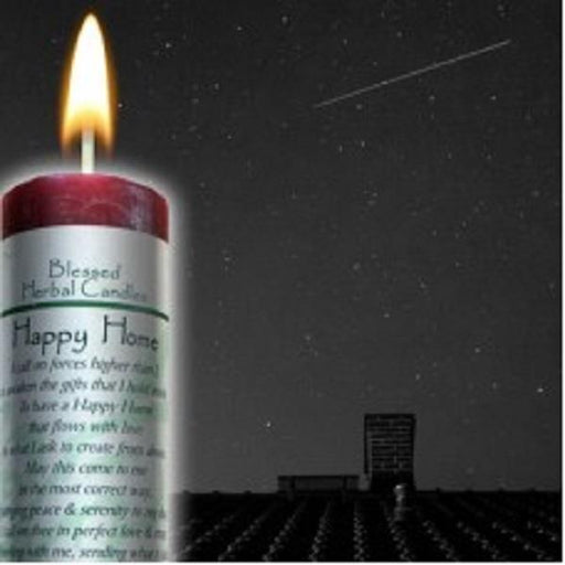 Blessed Herbal Candle Happy Home | Earthworks