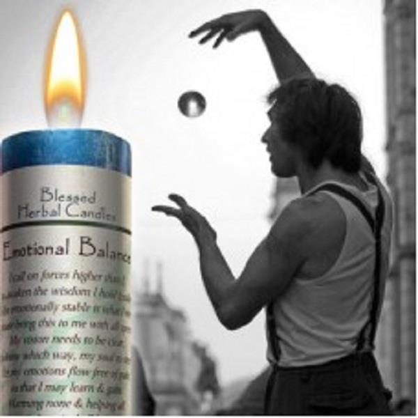 Blessed Herbal Candle Emotional Balance | Earthworks