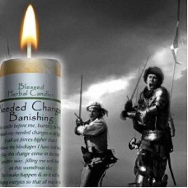 Blessed Herbal Candle Changes Banishing | Earthworks