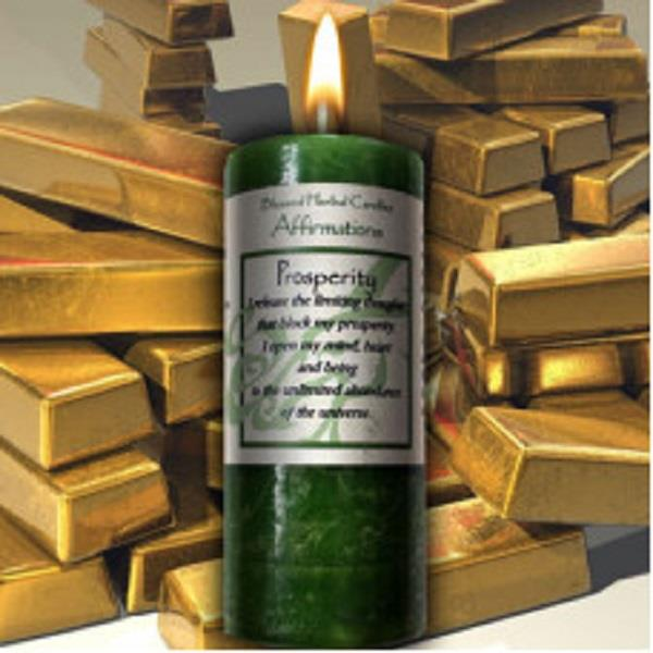 Affirmation Candle Prosperity | Earthworks