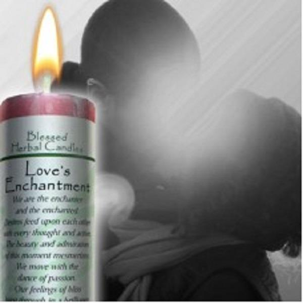 Blessed Herbal Candle Loves Enchantment | Earthworks