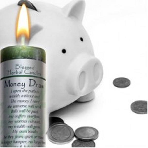 Blessed Herbal Candle Money Draw | Earthworks