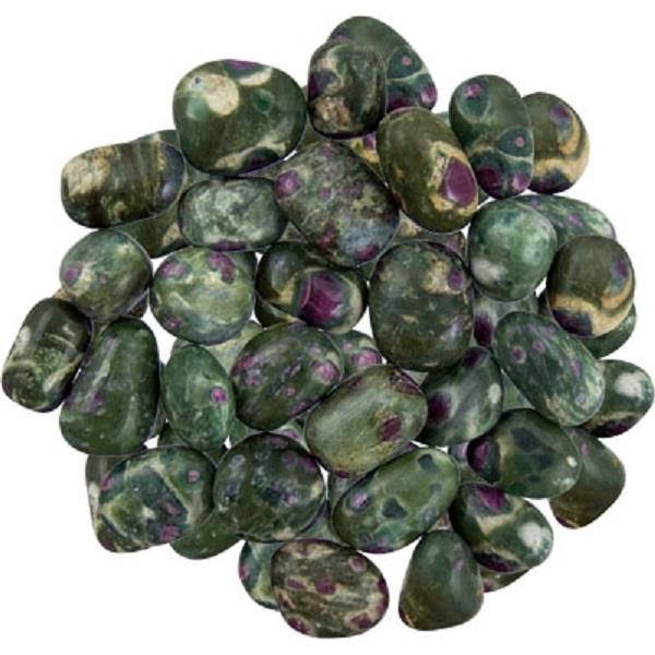 Ruby in Zoisite Tumbled | Earthworks