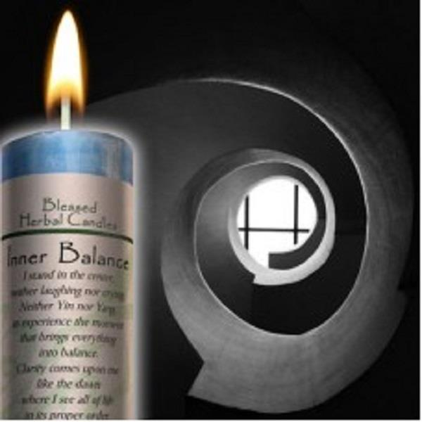 Blessed Herbal Candle Inner Balance | Earthworks