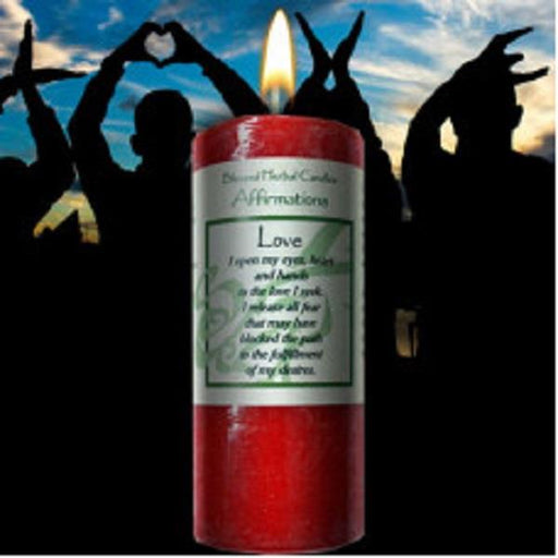 Affirmation Candle Love | Earthworks