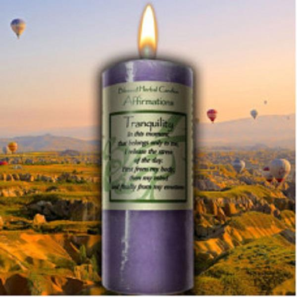 Affirmation Candle Tranquility | Earthworks
