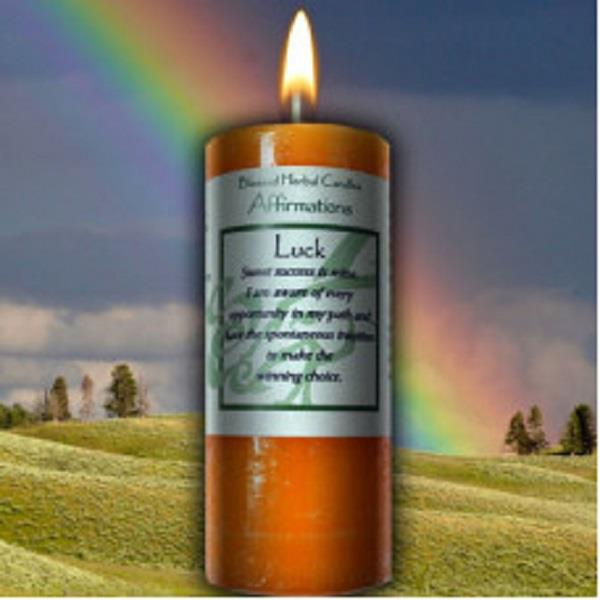 Affirmation Candle Luck | Earthworks