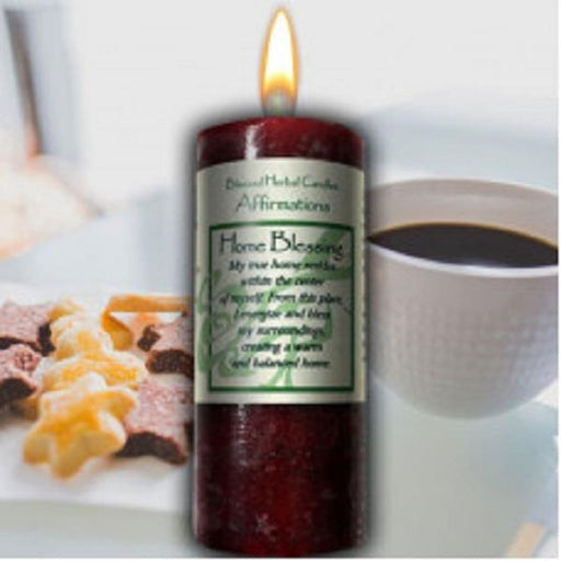 Affirmation Candle Home Blessing | Earthworks
