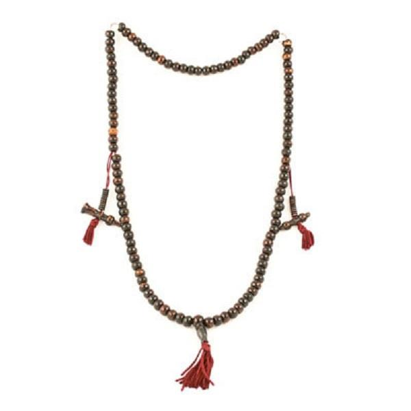 Prayer Mala Dark Bone with Counters | Earthworks