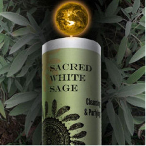 World Magic Candle - Sacred White Sage | Earthworks