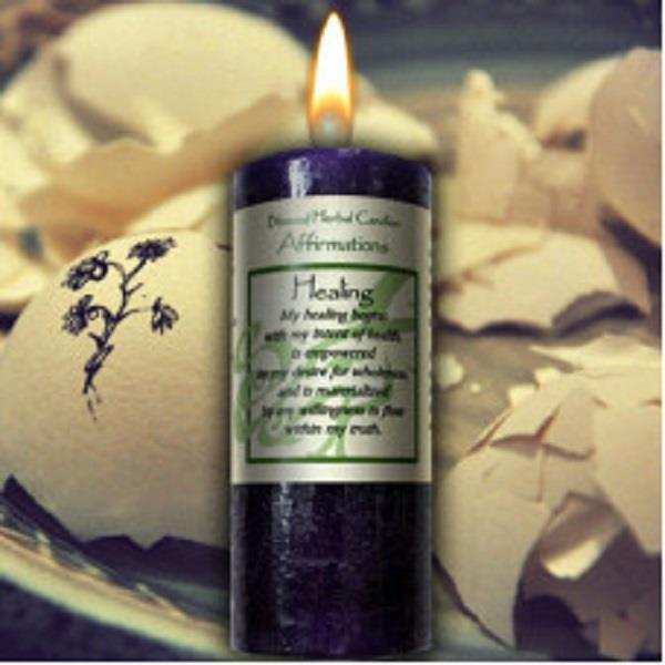 Affirmation Candle Healing | Earthworks