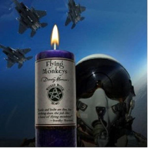 Wicked Witch Mojo Candle Flying Monkeys | Earthworks