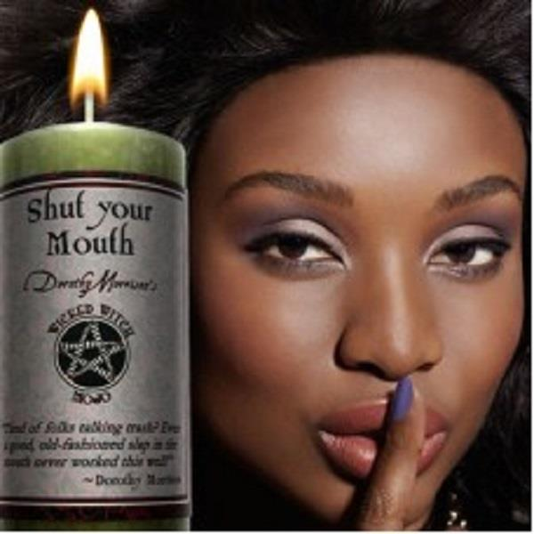 Wicked Witch Mojo Candle Shut Your Mouth | Earthworks