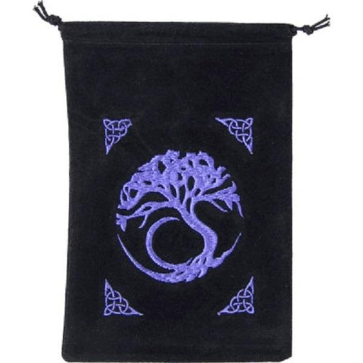 "Bag velvet embroidery tree of life 5""x7"" 