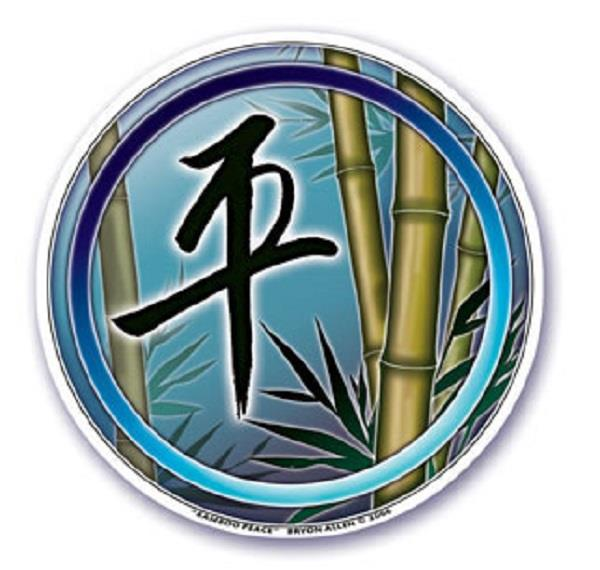 Window Sticker Bamboo Peace