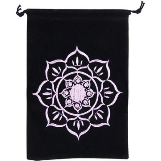 Velvet Bag Lotus Embroidered 5x7 | Earthworks