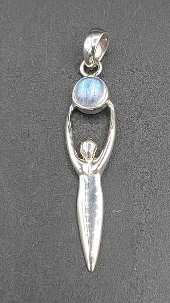 Pendant Rainbow Moonstone Goddess