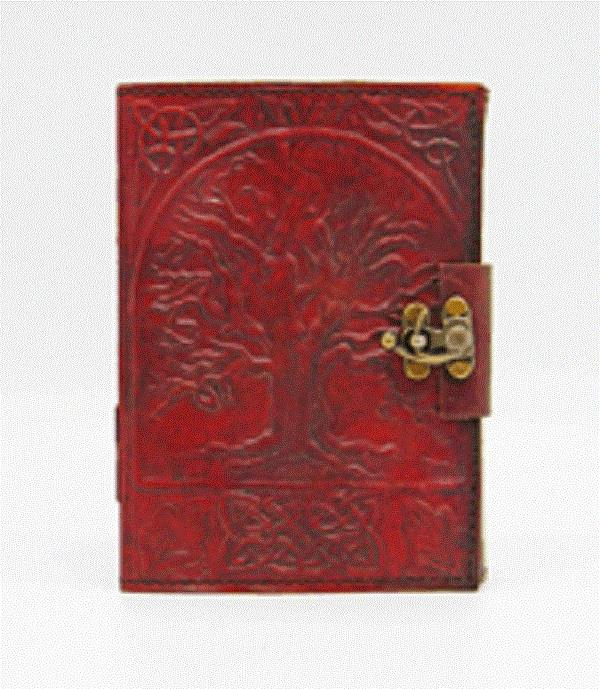 Leather Journal Tree of Life with Lock | Earthworks