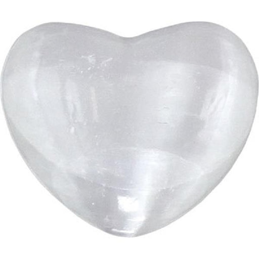 "Selenite Heart 1""-2"" 
