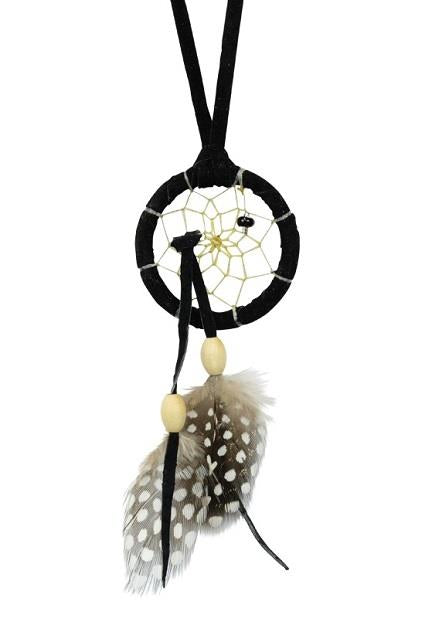 "1.5"" Dreamcatcher Black Tie in Web 