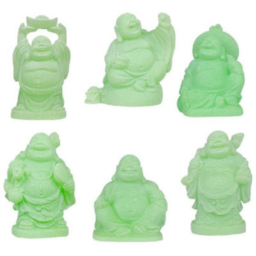 "2"" Green Buddha Glow in the Dark 