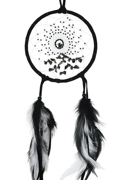 "4"" Dreamcatcher Energy Flow Black 
