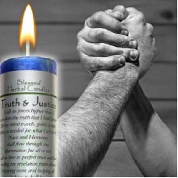 Blessed Herbal Candle Truth & Justice | Earthworks