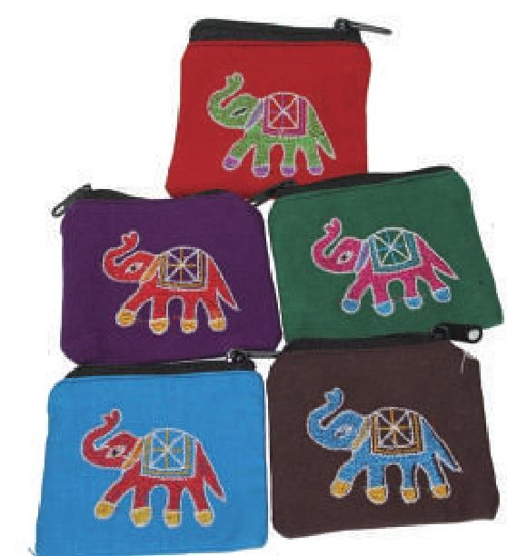 Zip Pouch Elephant Assorted