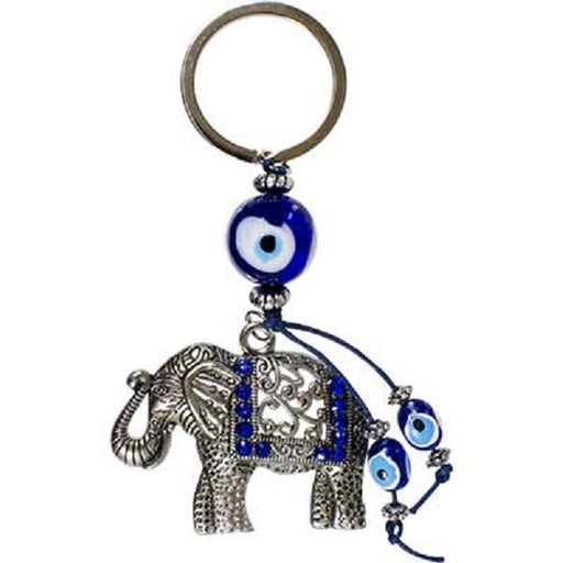 Evil Eye Keychain Lucky Elephant 4.25"