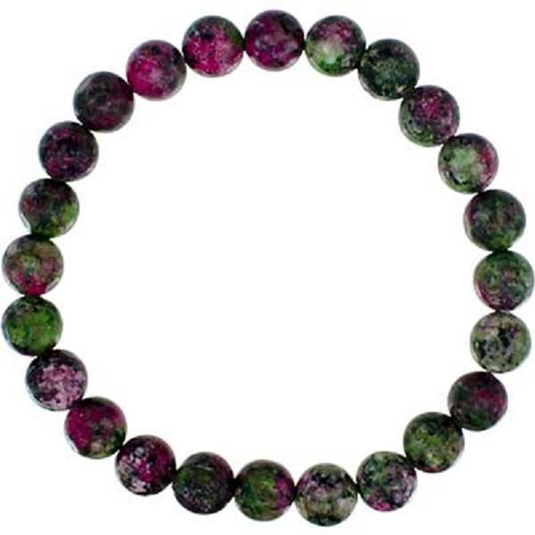 8mm Bracelet Ruby Zoisite Synthetic | Earthworks