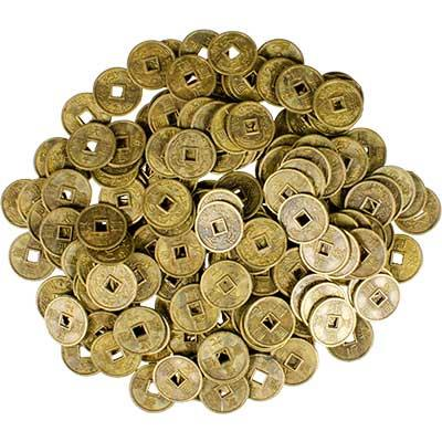 10mm I Ching Coins 1 Pair | Earthworks