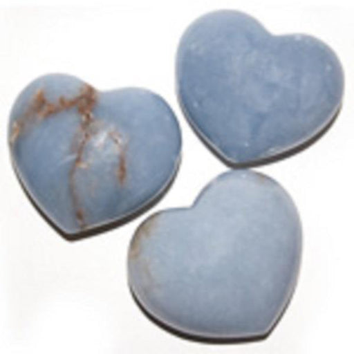 Puffy Heart 45mm Angelite | Earthworks