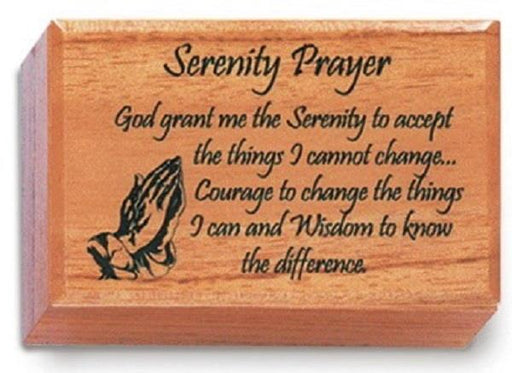 Mahogany Keepsake Box Serenity Prayer | Earthworks