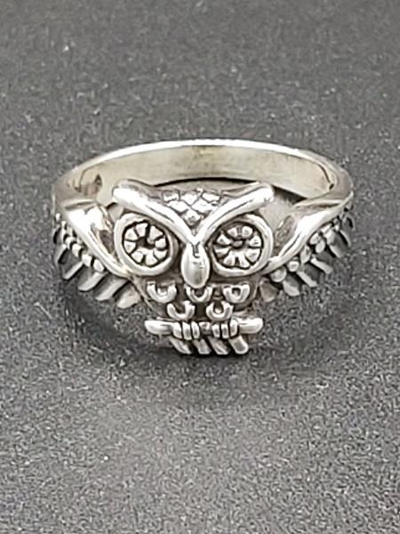 Ring Flying Owl Sterling Silver | Earthworks