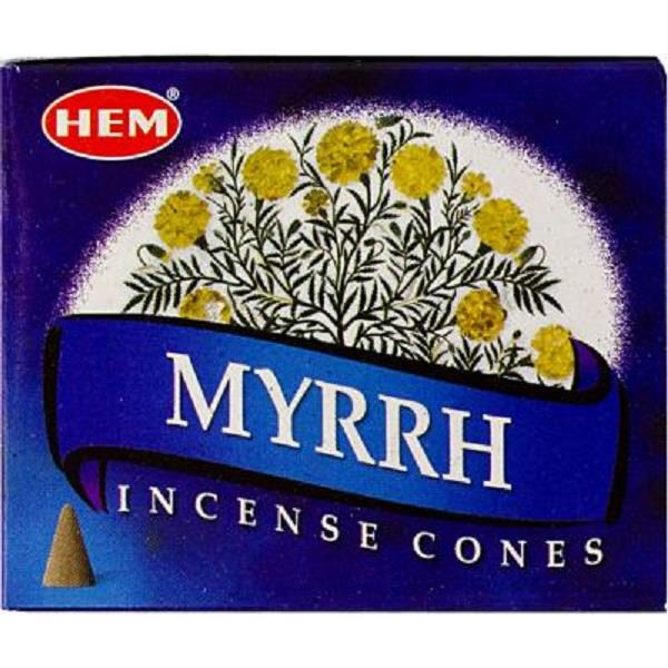 Hem Incense Myrrh Cones 10pcs | Earthworks